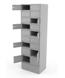 Шкаф абонементный на 18 ячеек: купить в Москве по цене 29 900 руб | Интернет-магазин «Мебель Металлическая»