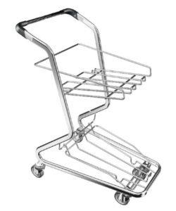 Тележка-подставка для корзин ТВF7-RD: купить в Москве по цене 2 883 руб | Интернет-магазин «Мебель Металлическая»