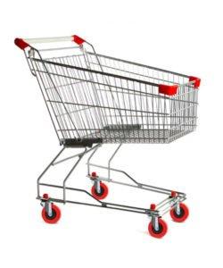 Тележка покупательская STA060-XX-Budget: купить в Москве по цене 2 874 руб | Интернет-магазин «Мебель Металлическая»