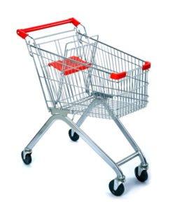 Тележка покупательская STE060-BX: купить в Москве по цене 3 138 руб | Интернет-магазин «Мебель Металлическая»
