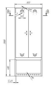 Шкаф по размерам заказчика: купить в Москве по цене 20 000 руб | Интернет-магазин «Мебель Металлическая»
