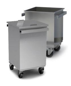 Бак для мусора 600*390*390 на колесах с крышкой: купить в Москве по цене 15 100 руб | Интернет-магазин «Мебель Металлическая»