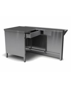 Модуль кассовый левый 850*1300*700 из нержавейки: купить в Москве по цене 28 200 руб   Интернет-магазин «Мебель Металлическая»