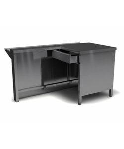 Модуль кассовый правый 850*1200*700 из нержавейки: купить в Москве по цене 22 700 руб   Интернет-магазин «Мебель Металлическая»