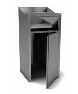 Пост для мусора 900мм из нержавейки: купить в Москве по цене 15 300 руб   Интернет-магазин «Мебель Металлическая»
