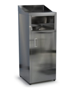 Пост для мусора 1200 (1300) мм из нержавейки AISI 304: купить в Москве по цене 54 200 руб   Интернет-магазин «Мебель Металлическая»