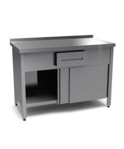 Стол под кофемашину (двери-купе): купить в Москве по цене 36 300 руб | Интернет-магазин «Мебель Металлическая»