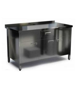 Стол под кофемашину (распашные двери): купить в Москве по цене 28 000 руб   Интернет-магазин «Мебель Металлическая»