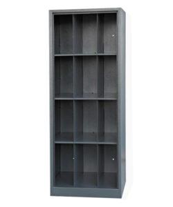Шкаф ШПГ-12о для противогазов на 12 ячеек (без дверей): купить в Москве по цене 14 500 руб | Интернет-магазин «Мебель Металлическая»