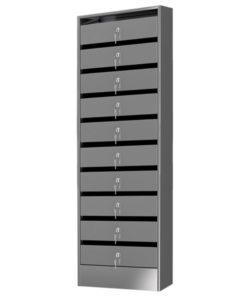 Почтовый ящик из нержавейки на 10 секций: купить в Москве по цене 20 425 руб   Интернет-магазин «Мебель Металлическая»