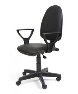 Кресло «ПРЕСТИЖ» с подлокотниками (кожзам): купить в Москве по цене 3 435 руб | Интернет-магазин «Мебель Металлическая»