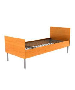 Кровать бытовая с деревянными спинками: купить в Москве по цене 5 925 руб | Интернет-магазин «Мебель Металлическая»