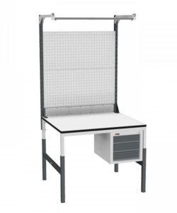 Стол монтажный СР-М-100/90-04 ESD: купить в Москве по цене 22 880 руб | Интернет-магазин «Мебель Металлическая»