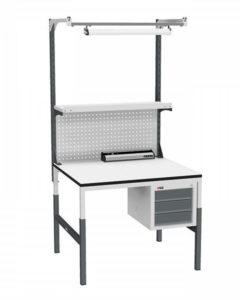 Стол монтажный СР-М-100/90-05 ESD: купить в Москве по цене 31 340 руб | Интернет-магазин «Мебель Металлическая»