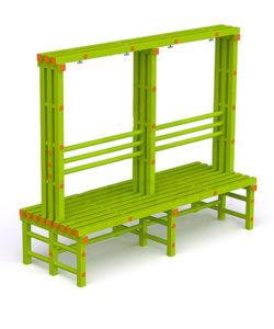 Скамья-вешалка пластиковая двухсторонняя: купить в Москве по цене 17 700 руб   Интернет-магазин «Мебель Металлическая»