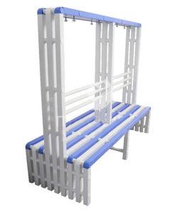 Скамья-вешалка пластиковая двухсторонняя Рейл 2: купить в Москве по цене 21 000 руб   Интернет-магазин «Мебель Металлическая»