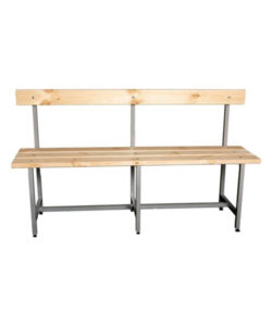 Скамья для раздевалки СТ-5 со спинкой: купить в Москве по цене 4 400 руб | Интернет-магазин «Мебель Металлическая»