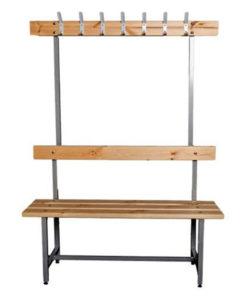 Скамья для раздевалки СВТ-4 с вешалкой: купить в Москве по цене 5 100 руб | Интернет-магазин «Мебель Металлическая»