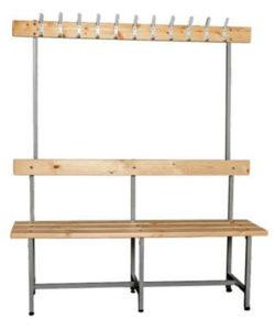 Скамья для раздевалки СВТ-5 с вешалкой: купить в Москве по цене 6 500 руб | Интернет-магазин «Мебель Металлическая»