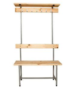 Скамья для раздевалки СВТ-7 с вешалкой и полкой: купить в Москве по цене 5 900 руб | Интернет-магазин «Мебель Металлическая»