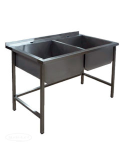 Ванна моечная сварная двухсекционная (AISI 304): купить в Москве по цене 22 100 руб | Интернет-магазин «Мебель Металлическая»