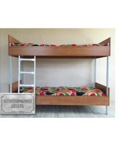 Кровать металлическая двухъярусная КБ-2: купить в Москве по цене 9 035 руб | Интернет-магазин «Мебель Металлическая»