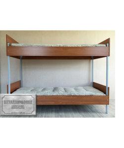 Кровать металлическая двухъярусная КБ-2 (800): купить в Москве по цене 9 880 руб | Интернет-магазин «Мебель Металлическая»