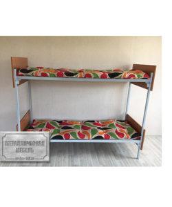 Кровать металлическая двухъярусная КО-2: купить в Москве по цене 7 540 руб | Интернет-магазин «Мебель Металлическая»