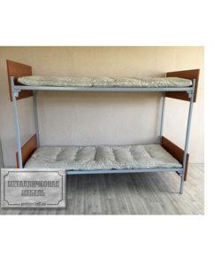 Кровать металлическая двухъярусная КО-2 (800): купить в Москве по цене 8 060 руб | Интернет-магазин «Мебель Металлическая»