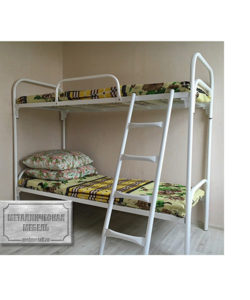 Кровать металлическая двухъярусная СБ-2: купить в Москве по цене 7 020 руб | Интернет-магазин «Мебель Металлическая»