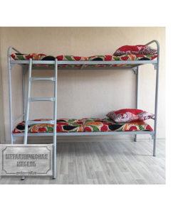 Кровать металлическая двухъярусная СС-2: купить в Москве по цене 5 070 руб | Интернет-магазин «Мебель Металлическая»