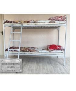 Кровать металлическая двухъярусная СС-2 (800): купить в Москве по цене 5 720 руб | Интернет-магазин «Мебель Металлическая»