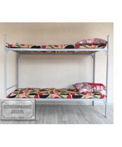 Кровать металлическая двухъярусная СС-2 (у): купить в Москве по цене 4 810 руб | Интернет-магазин «Мебель Металлическая»