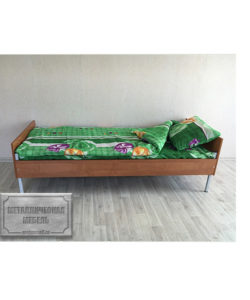 Кровать одноярусная КБ-1 (800): купить в Москве по цене 5 615 руб | Интернет-магазин «Мебель Металлическая»