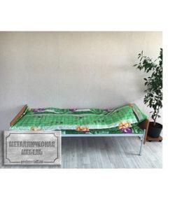 Кровать одноярусная КО-1: купить в Москве по цене 3 940 руб | Интернет-магазин «Мебель Металлическая»