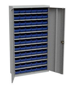 Стеллаж закрытый с пластиковыми ящиками ЗС.Д.5002.66: купить в Москве по цене 37 000 руб   Интернет-магазин «Мебель Металлическая»