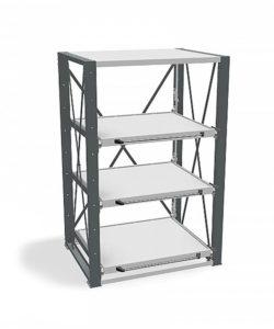 Стеллаж с выкатными платформами ВТ-01: купить в Москве по цене 197 500 руб | Интернет-магазин «Мебель Металлическая»