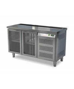 Стол холодильный барный со стеклянной дверью (боковой агрегат): купить в Москве по цене 103 400 руб | Интернет-магазин «Мебель Металлическая»