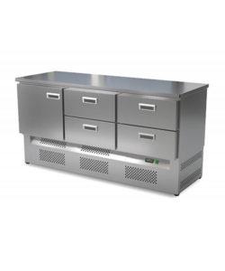 Стол холодильный кондитерский 1 дверь 4 ящика (нижний агрегат): купить в Москве по цене 140 200 руб   Интернет-магазин «Мебель Металлическая»