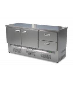 Стол холодильный кондитерский 2 двери 2 ящика (нижний агрегат): купить в Москве по цене 125 800 руб   Интернет-магазин «Мебель Металлическая»