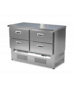Стол холодильный кондитерский 4 ящика (нижний агрегат): купить в Москве по цене 123 000 руб   Интернет-магазин «Мебель Металлическая»