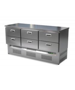 Стол холодильный кондитерский 6 ящиков (нижний агрегат): купить в Москве по цене 154 600 руб   Интернет-магазин «Мебель Металлическая»