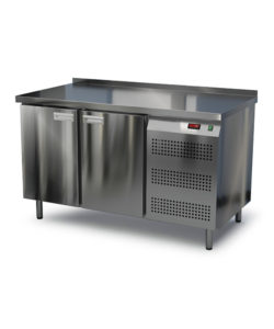 Стол охлаждаемый из нержавейки 1400 мм (боковой агрегат): купить в Москве по цене 80 200 руб | Интернет-магазин «Мебель Металлическая»