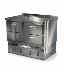 Стол охлаждаемый из нержавейки 1000 мм (нижний агрегат): купить в Москве по цене 64 100 руб | Интернет-магазин «Мебель Металлическая»