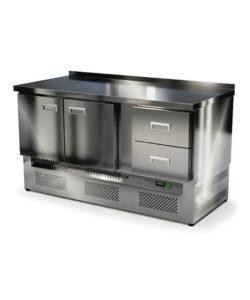 Стол охлаждаемый из нержавейки 1500 мм (нижний агрегат): купить в Москве по цене 78 700 руб | Интернет-магазин «Мебель Металлическая»