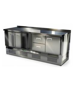Стол охлаждаемый из нержавейки 2000 мм (нижний агрегат): купить в Москве по цене 101 400 руб | Интернет-магазин «Мебель Металлическая»