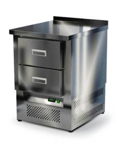 Стол охлаждаемый из нержавейки 600 мм (нижний агрегат): купить в Москве по цене 60 100 руб | Интернет-магазин «Мебель Металлическая»