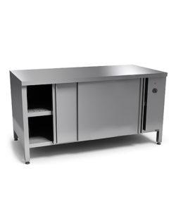 Стол тепловой из нержавеющей стали AISI 304 (двери-купе): купить в Москве по цене 65 400 руб | Интернет-магазин «Мебель Металлическая»