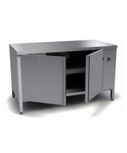 Стол тепловой из нержавеющей стали AISI 304 (распашная дверь): купить в Москве по цене 53 400 руб | Интернет-магазин «Мебель Металлическая»