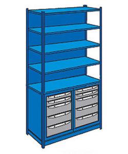 Система хранения WORK ST4: купить в Москве по цене 66 200 руб | Интернет-магазин «Мебель Металлическая»